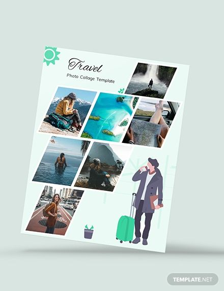 Free Travel Photo Collage Template Ad Paid Travel Free Photo Template Collage Photo Collage Template Collage Template Photoshop