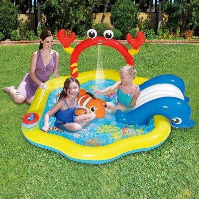 Summer Waves Inflatable Under The Sea Kiddie Swimming Pool Play