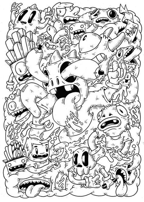 Kunst Zeichnungen - Doodle : Mindblown by on DeviantArt