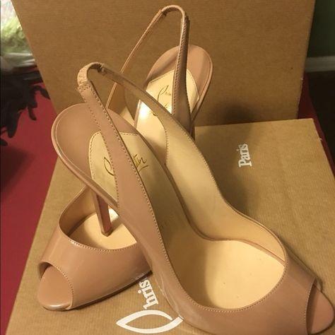 Spotted while shopping on Poshmark: Christian Louboutin private number nude SZ 40.5! #poshmark #fashion #shopping #style #Christian Louboutin #Shoes