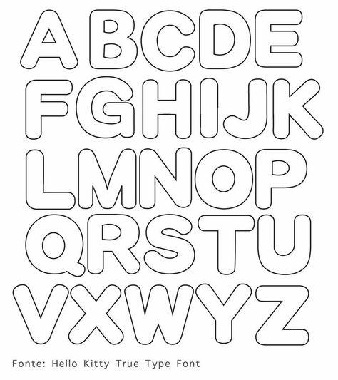 Large Font Letters Of Alphabet  Free Printable Letter Stencils