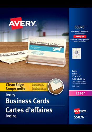 Avery 8875 Business Cards Templates Awesome Avery Clean Edge Business Cards 2 X 3 1 2 Rectangle Ivory Avery Business Cards Business Christmas Cards Cards