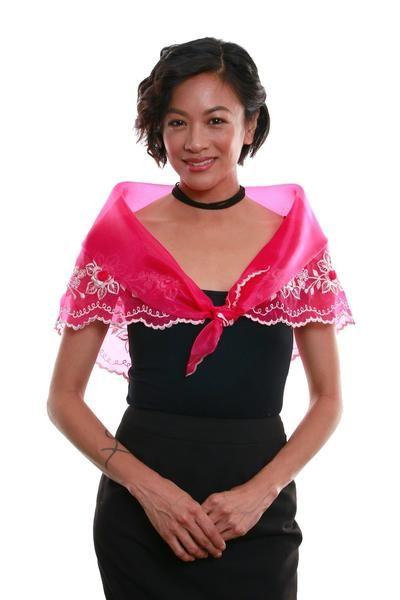 Women/'s Alampay Purple 001 Filipiniana