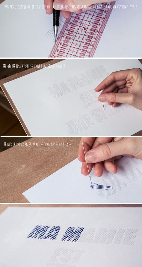 Papier à broder – DIY
