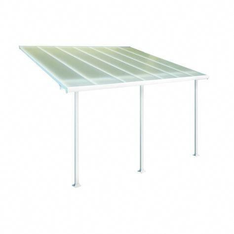 Palram Feria 10 Ft X 14 Ft White Patio Cover Awning Whites Pergola10x14 Covered Patio Patio Enclosures Covered Back Patio