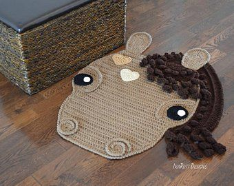 Chestnut The Loyal Horse Rug pattern by Ira Rott, for purchase