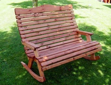 Torrington Wooden Garden Rocking Chair, Outdoor Rocking Bench Seat
