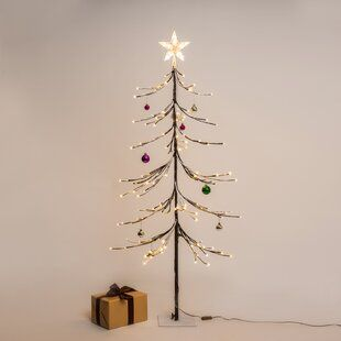 The Holiday Aisle Led Twinkle Light Starburst Lighted Branch With Hook Wayfair Pre Lit Christmas Tree Big Christmas Tree Artificial Christmas Tree