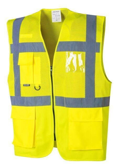 The Portwest Uc496 Madrid Executive Mesh Vest Is An Ansi Class 2