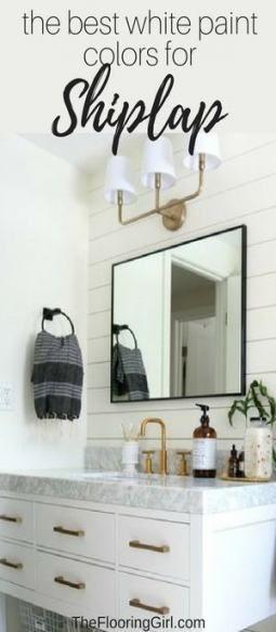 40 Ideas For Farmhouse Bathroom Paint Ship Lap Best White Paint White Paint Colors Bathroom Farmhouse Style