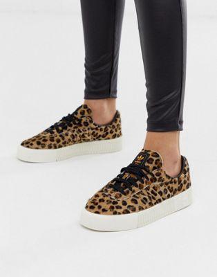 Adidas Leopard Print Sneakers. Adidas