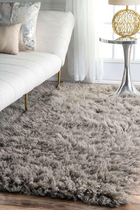Rugs USA Natural Greek Flokati rug - Shags Rectangle 2' x 3'