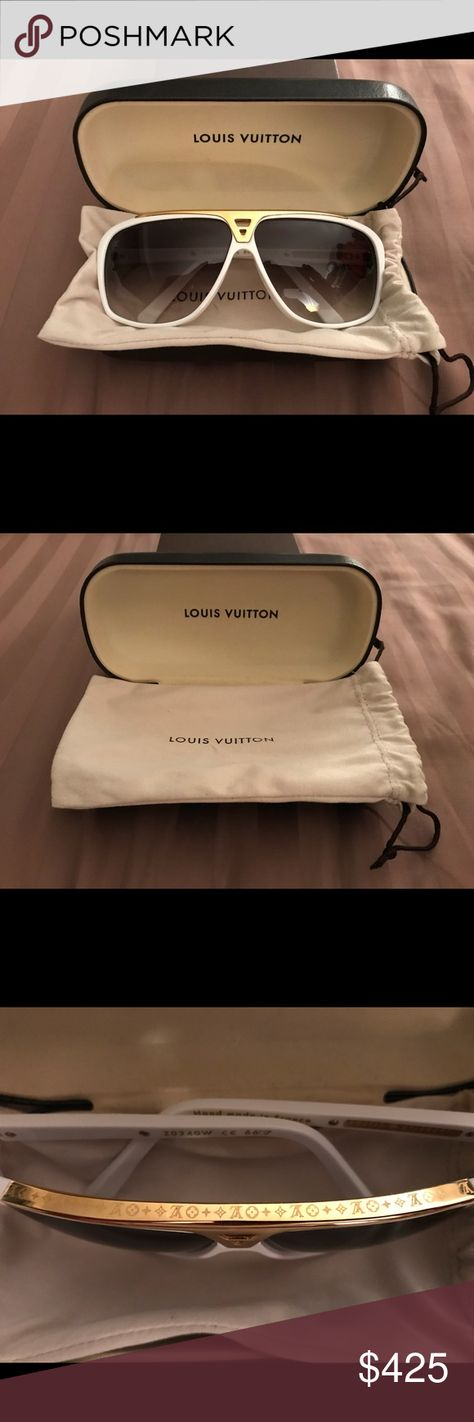 a2dd28760da2 Authentic Louis Vuitton White Evidence Sunglasses 100% Authentic LV  Evidence Sunglasses owned first hand since