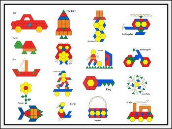 Makerspace Pattern Block Challenge Task Cards Idei