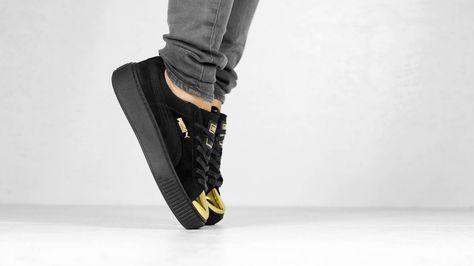 Sneakers femme - Puma Suede Platform black (©mate)