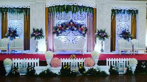 dekorasi pernikahan di gedung terbaru modern romantis