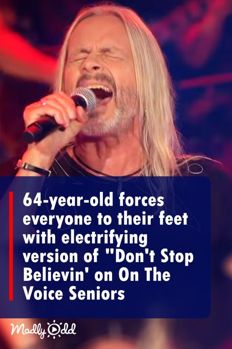 """64-Year-Old Forces Everyone to Their Feet With Electrifying 80s Performance on """"The Voice Senior"""""""