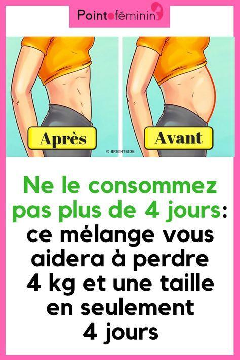 perdre du poids dans les 4 jours