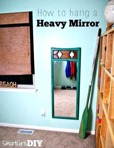 How To Hang A Mirror On A Wall Without Nails Hanging A Large Mirror Wall Mirrors Hang A Wall Mirror Without Heavy Mirror Hanging Heavy Mirror Large Mirror Diy