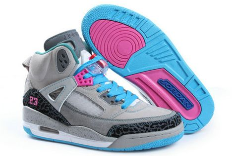 new concept 34b1f 1ec5f Women Jordan Shoes -jordan shoes for women Women Air Jordan Grey Pink Sky  Blue  Women Air Jordan - You can get these Jordan Spizikes shoes for  yourselves or ...