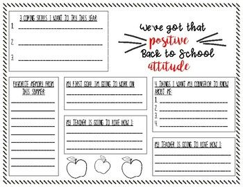 We've Got that Positive Attitude Worksheet | Positive ...