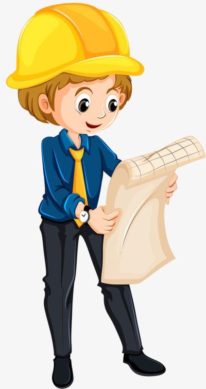 شخصيات كرتونية أنثى مهندس قبعة صغيرة صفراء مهندس لطيفpng صورة Engineer Cartoon Kids Cartoon Characters Flashcards For Kids