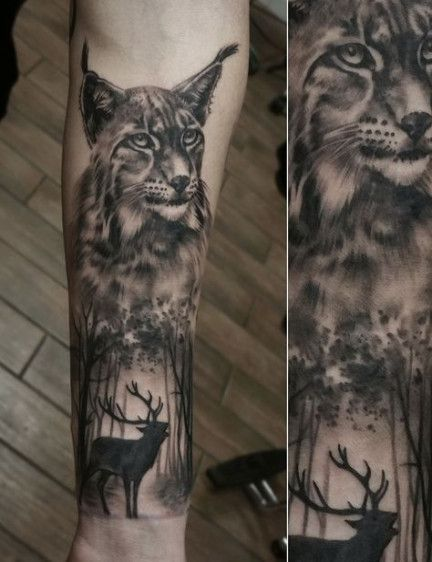 Trendy Tattoo For Guys Sleeve Forest 41 Ideas Animal Tattoos Sleeve Tattoos Nature Tattoos