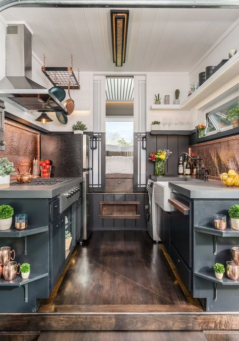 "The Jaw-Dropping ""Escher"" Tiny House on Wheels by New Frontier Tiny Homes"