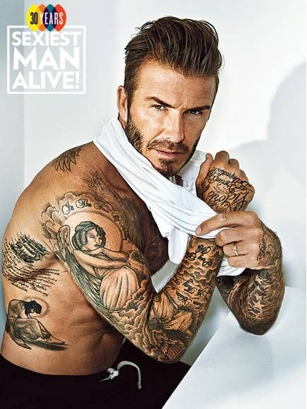 i like ur tattoo Sexiest Man Alive David Beckham on His Tattoos: I'm Not Worried What I'll Look Like When I'm 60