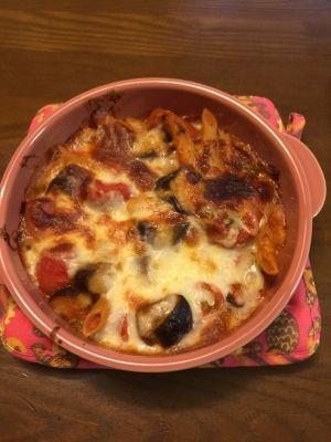 なす と トマト の チーズ 焼き