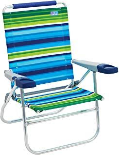 Rio Beach 15 Inch Tall Folding Beach Chair Sports Outdoors Fitness Exercise Clothing Yoga Men Women High Beach Chairs Folding Beach Chair Beach Chairs