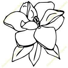 magnolia flower clip art art reference magnolia pinterest rh pinterest com magnolia wreath clipart magnolia clipart free