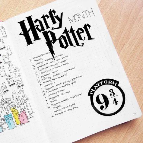 65 Spellbinding Harry Potter Spreads My Inner Creative Bullet Journal Ideas Pages Bullet Journal Mood Bullet Journal