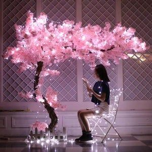 12 Pieces Lots Of Lush Wedding Flower Branches Artificial Wisteria Flowers Lifelike Touch Artificial Cherry Decoration Diy Branches In 2021 Pink Wedding Decorations Cherry Blossom Branch Wedding Decorations