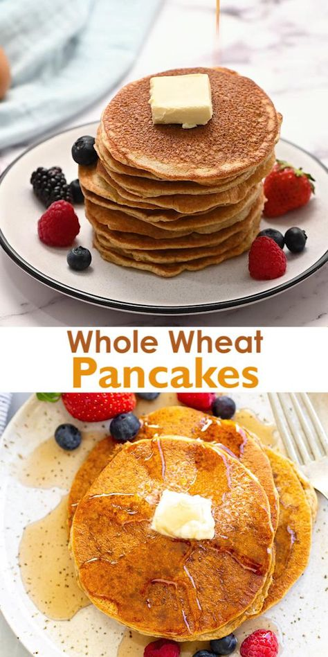 5 minute Whole Wheat Pancakes