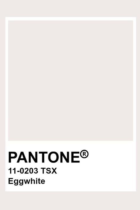 Pantone Eggwhite
