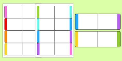 Editable Colour Loop Card Templates