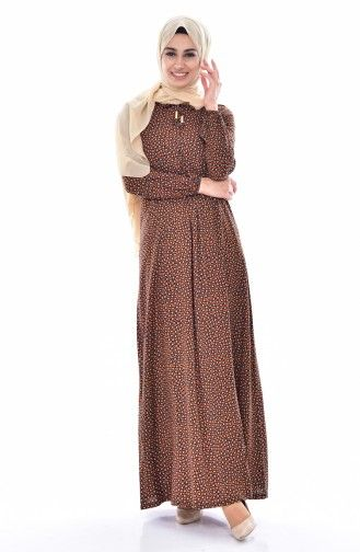 Sefamerve Bagcik Detayli Viskon Elbise 1936 06 Kiremit Elbise Elbise Modelleri Kazak Elbise