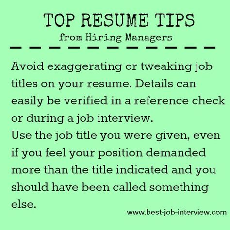 Job titles and writing your resume Job Search, Job Interviews - sample resume reference page