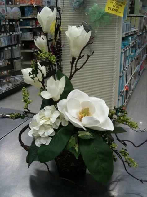 Magnolie Large Flower Arrangements Funeral Flower Arrangements Artificial Floral Arrangements