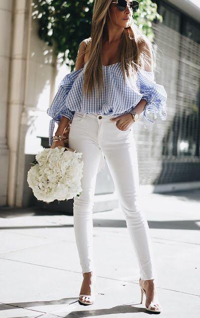 Pin De Doraleal En Taste Como Combinar Pantalon Blanco Ropa De Moda Pantalón Blanco Mujer