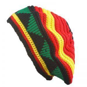 REGGAE STYLE MULTI COLOURED JAMAICAN BEANIE WIG.. CAP CLOTHING HAT SHIRT