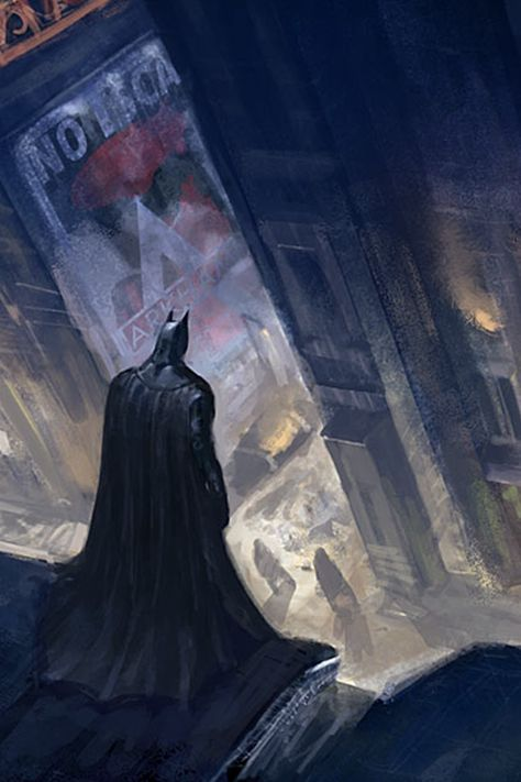 Arkham City concept art from the Batman game series