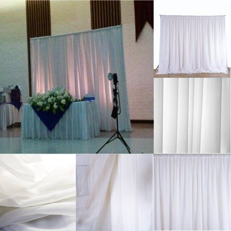 NEW 2.4M White Curtains Fabric Backdrops Decor Drapes for Wedding Ceremony Party