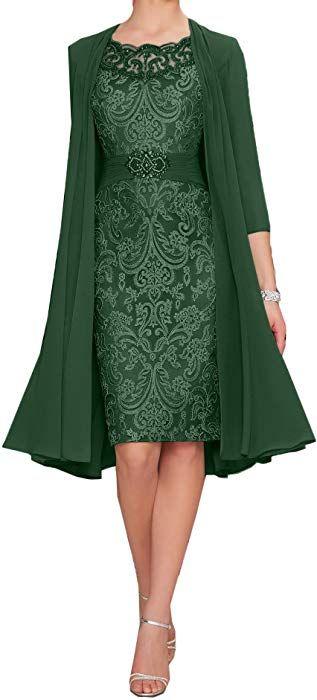 kleid brautmutter knielang grün