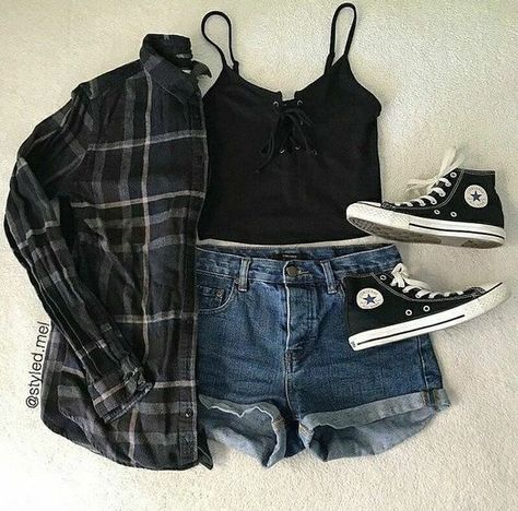Soft Grunge Outfits, Edgy Summer Outfits, Grunge Look, Edgy Outfits, Cute Casual Outfits, Dance Outfits, 90s Grunge, Summer Grunge, Grunge Teen