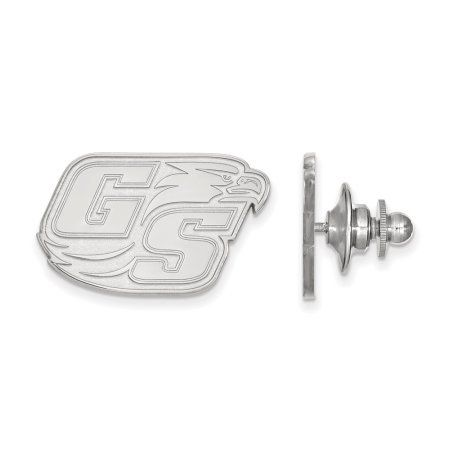 Solid 14k White Gold University of Georgia Lapel Pin