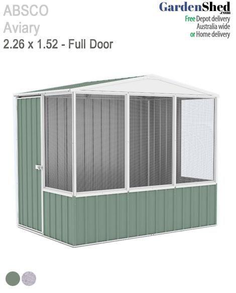 Absco Aviary 2 26m X 1 52m Bird Cage Aviary Gardenshed Com Aviary Bird Cage Single Doors