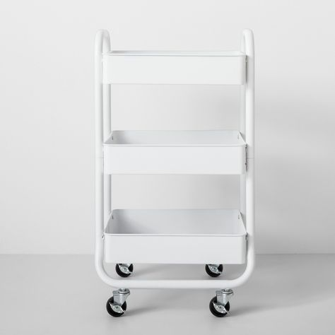 Three Tier Metal Utility Cart White – Made By Design – Dorm Room İdeas 2020