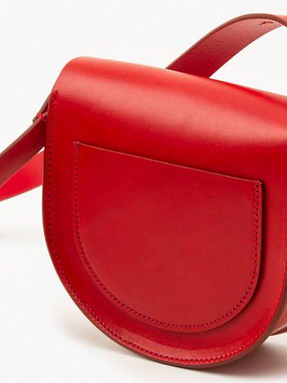 Premium L Bag Small Saddle Rouge En 2020 Petit Sac Sac Sac Bandouliere